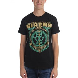 Sleeping With Sirens - Mens Sws Green Crest T-Shirt