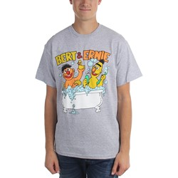 Sesame Street - Mens Bert & Ernie In Bath Tub T-Shirt