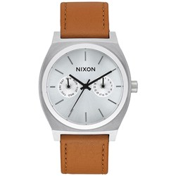 Nixon - Mens Time Teller Deluxe Leather Analog Watch