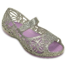 Crocs -  Isabella Glitter PS Jelly Flat (Toddler/Little Kid)