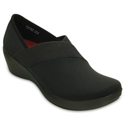 Crocs -  Women's Busy Day Stretch Asymmetrical Wedge Flat