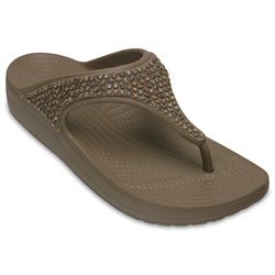 Crocs - Womens Crocs Sloane Embellished Flip