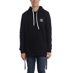 Civil Clothing - Mens Extended Zip Reverse Scallop Brawler Hoodie