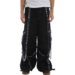 Tripp NYC Baggy Pyramid Stud Pants in Black/Charcoal