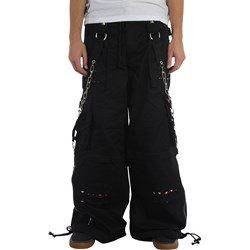 Tripp NYC Baggy Rough & Ready Pants in Black / Red