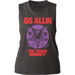 GG Allin - Womens I'm Your Enemy Tank Top