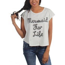Iron Fist - Womens Mermaid For Life Oversized Crop T-Shirt