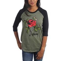 Stussy - Womens Rose Raglan T-Shirt