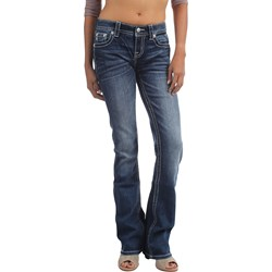 Miss Me - Womens Mid Rise Bootcut Jeans