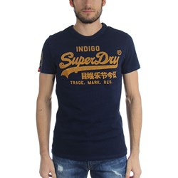 Superdry - Mens Vintage Logo New Indigo T-Shirt