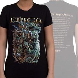 Epica - Womens Wolf Skull Tour T-Shirt