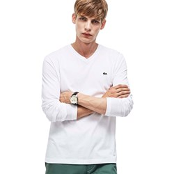 Lacoste - Mens  TH1370 Long Sleeve V-Neck Shirt