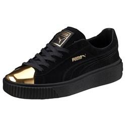 Puma - Womens Suede Platform Gold Shoes