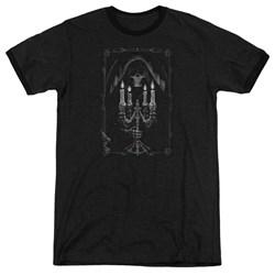 Anne Stokes - Mens Candelabra Ringer T-Shirt