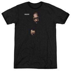 Isaac Hayes - Mens Chocolate Chip Ringer T-Shirt
