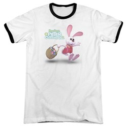 Here Comes Peter Cottontail - Mens Hop Around Ringer T-Shirt