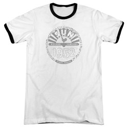 Sun Records - Mens Crusty Logo Ringer T-Shirt