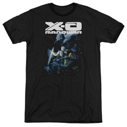 Xo Manowar - Mens By The Sword Ringer T-Shirt