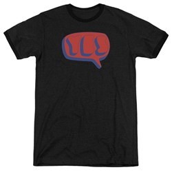 Yes - Mens Word Bubble Ringer T-Shirt