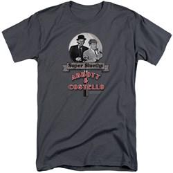 Abbott & Costello - Mens Super Sleuths Tall T-Shirt