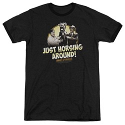 Abbott & Costello - Mens Horsing Around Ringer T-Shirt