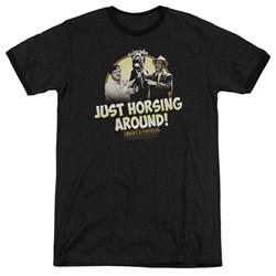 Abbott & Costello - Mens Horsing Around Ringer T-Shirt