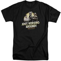 Abbott & Costello - Mens Horsing Around Tall T-Shirt