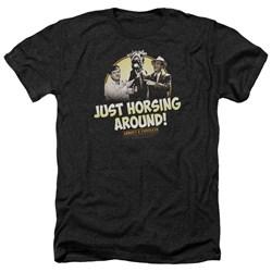 Abbott & Costello - Mens Horsing Around Heather T-Shirt