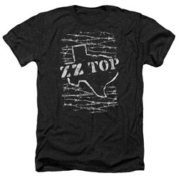 Zz Top - Mens Barbed Heather T-Shirt