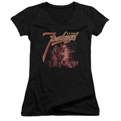 Zz Top - Juniors Fandango V-Neck T-Shirt