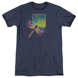 Yes - Mens Dragonfly Ringer T-Shirt