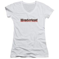 Zenoscope - Juniors Wonderland Logo V-Neck T-Shirt