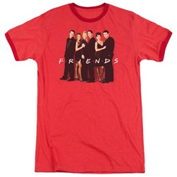 Friends - Mens Cast In Black Ringer T-Shirt