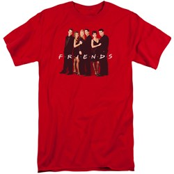 Friends - Mens Cast In Black Tall T-Shirt