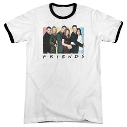 Friends - Mens Cast Logo Ringer T-Shirt