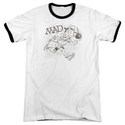 Mad - Mens Sketch Ringer T-Shirt