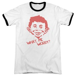 Mad - Mens What Me Worry Ringer T-Shirt