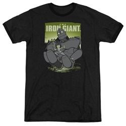 Iron Giant - Mens Helping Hand Ringer T-Shirt