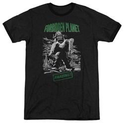 Forbidden Planet - Mens Robot Poster Ringer T-Shirt