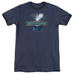 Polar Express - Mens Train Logo Ringer T-Shirt