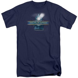 Polar Express - Mens Train Logo Tall T-Shirt