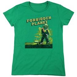 Forbidden Planet - Womens Old Poster T-Shirt