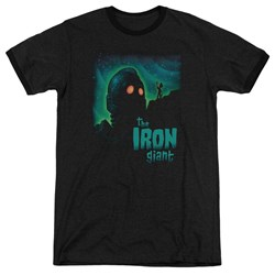 Iron Giant - Mens Look To The Stars Ringer T-Shirt