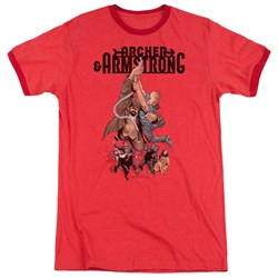 Archer & Armstrong - Mens Hang In There Ringer T-Shirt
