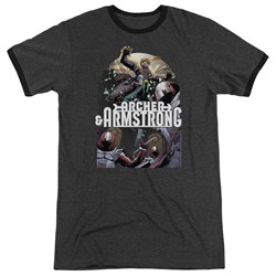 Archer & Armstrong - Mens Dropping In Ringer T-Shirt