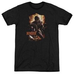 Ninjak - Mens Fiery Ninjak Ringer T-Shirt