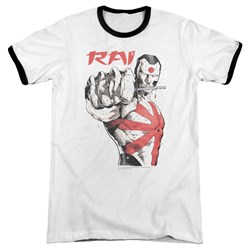 Rai - Mens Sword Drawn Ringer T-Shirt