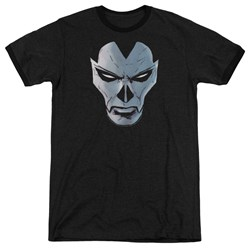 Shadowman - Mens Comic Face Ringer T-Shirt