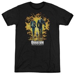 Quantum And Woody - Mens Explosion Ringer T-Shirt