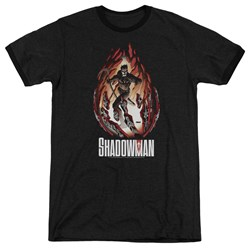 Shadowman - Mens Burst Ringer T-Shirt